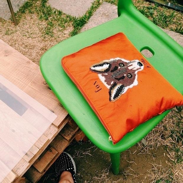개시 #fox #clutch  #color #orange #vscocam